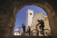Radfahrer in Istrien