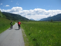 Radfahren am Drauradweg